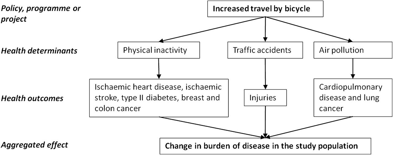 Health 2 Work.Health Impact Assessment Of Increased Cycling To Place Of Work Or