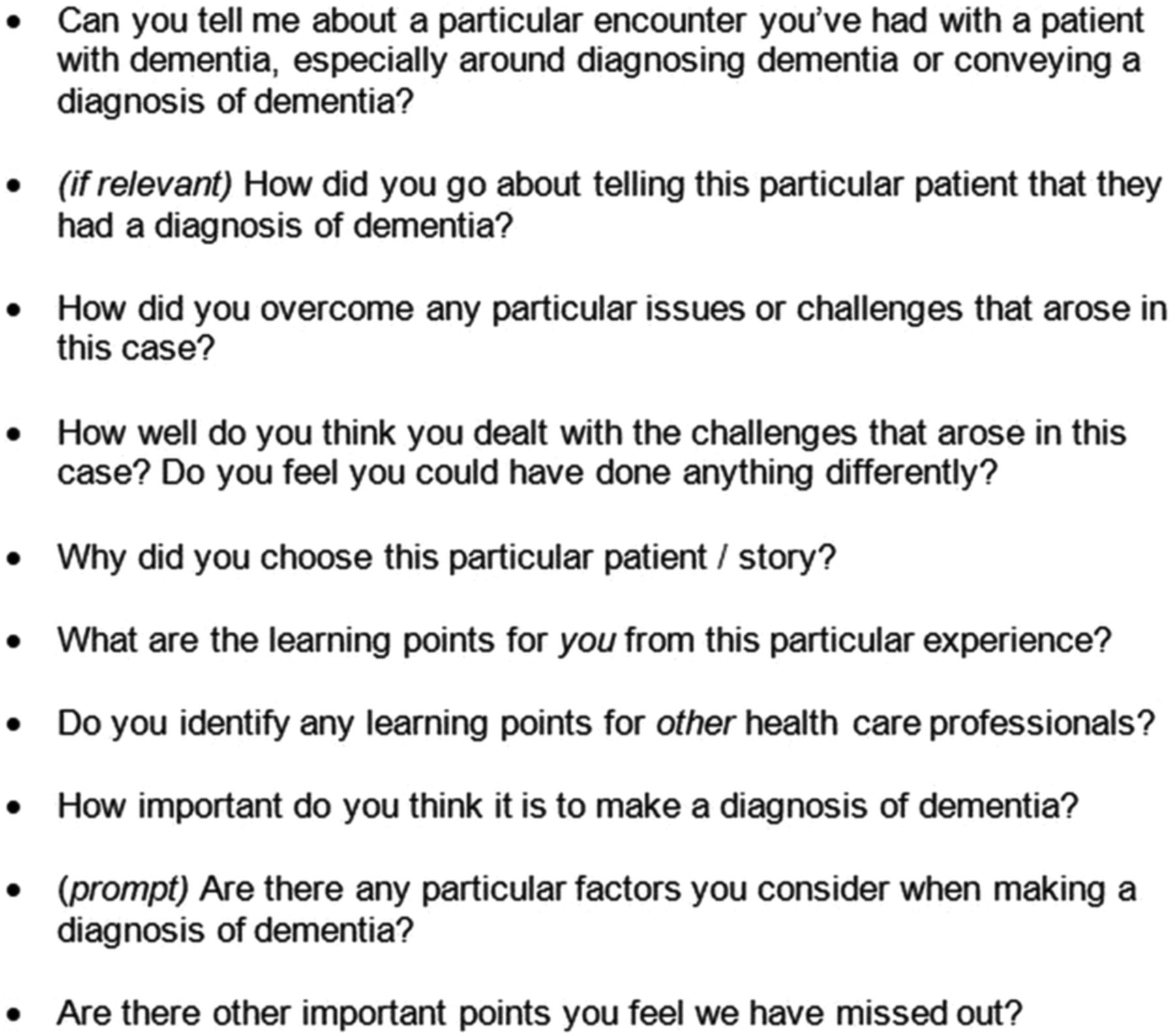 Timely Diagnosis Of Dementia What Does It Mean A Narrative
