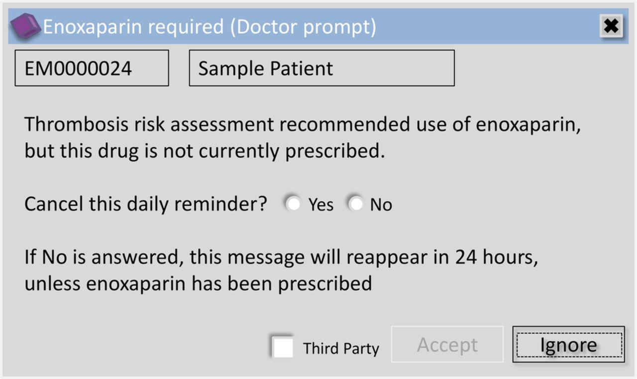 Electronic risk assessment for venous thromboembolism: investigating ...