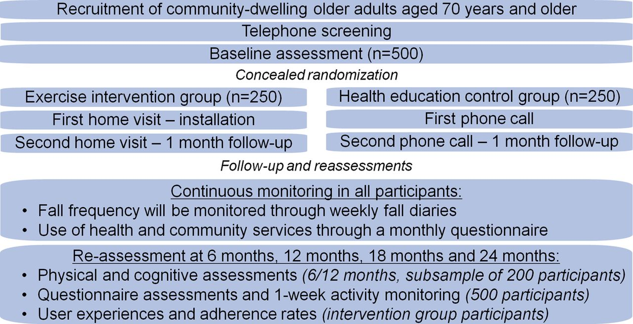 evaluating the effectiveness of a home based exercise programme figure