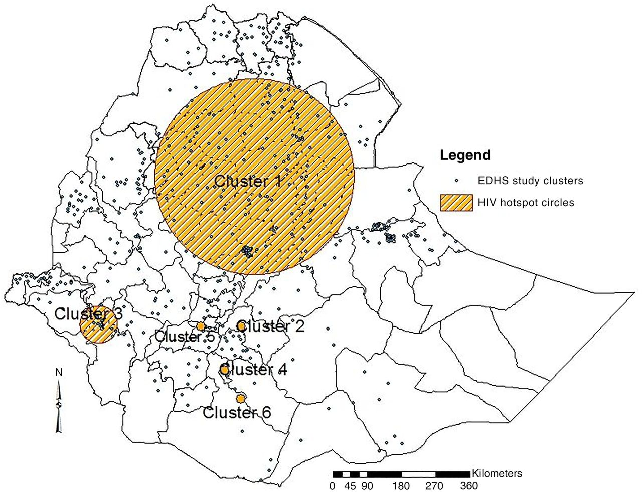 Social determinants of HIV infection, hotspot areas and ...