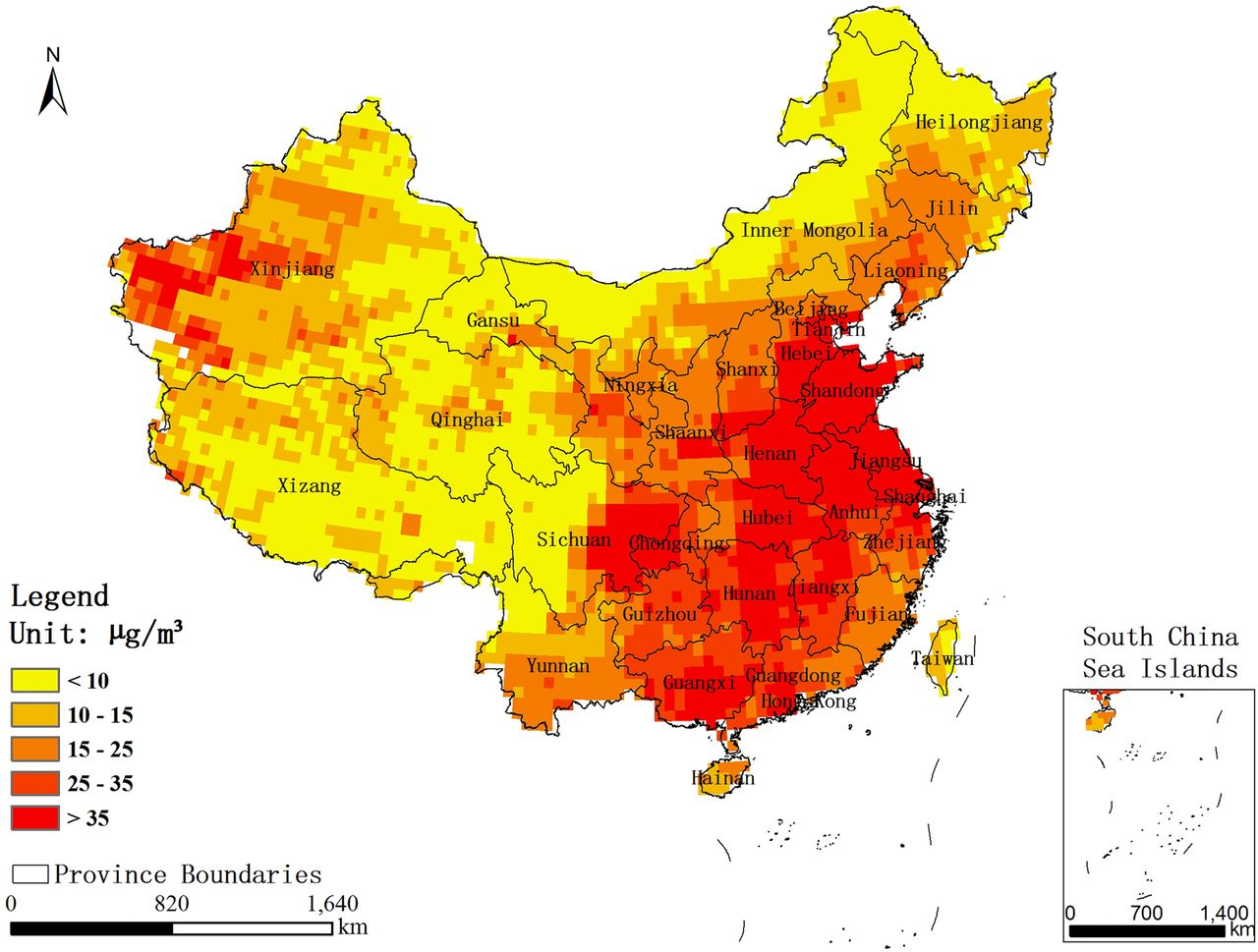 an ecological analysis of pm2 5 concentrations and lung