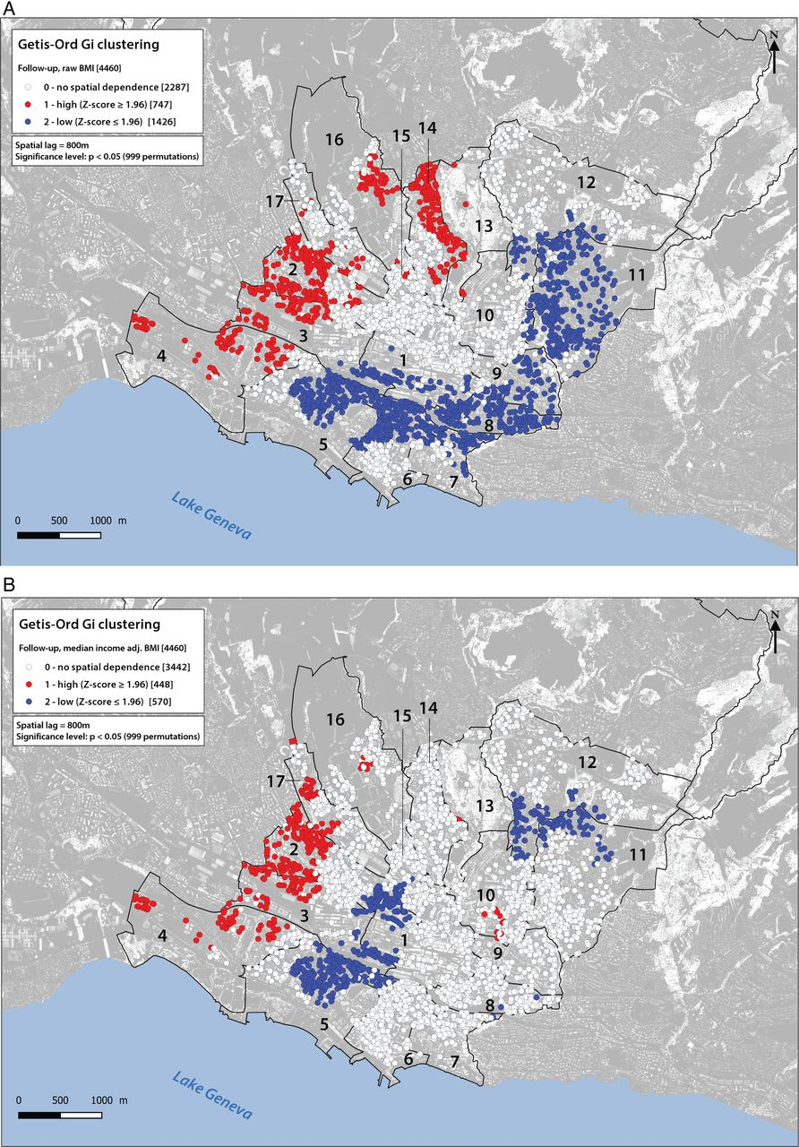 Persistent spatial clusters of high body mass index in a Swiss urban ...