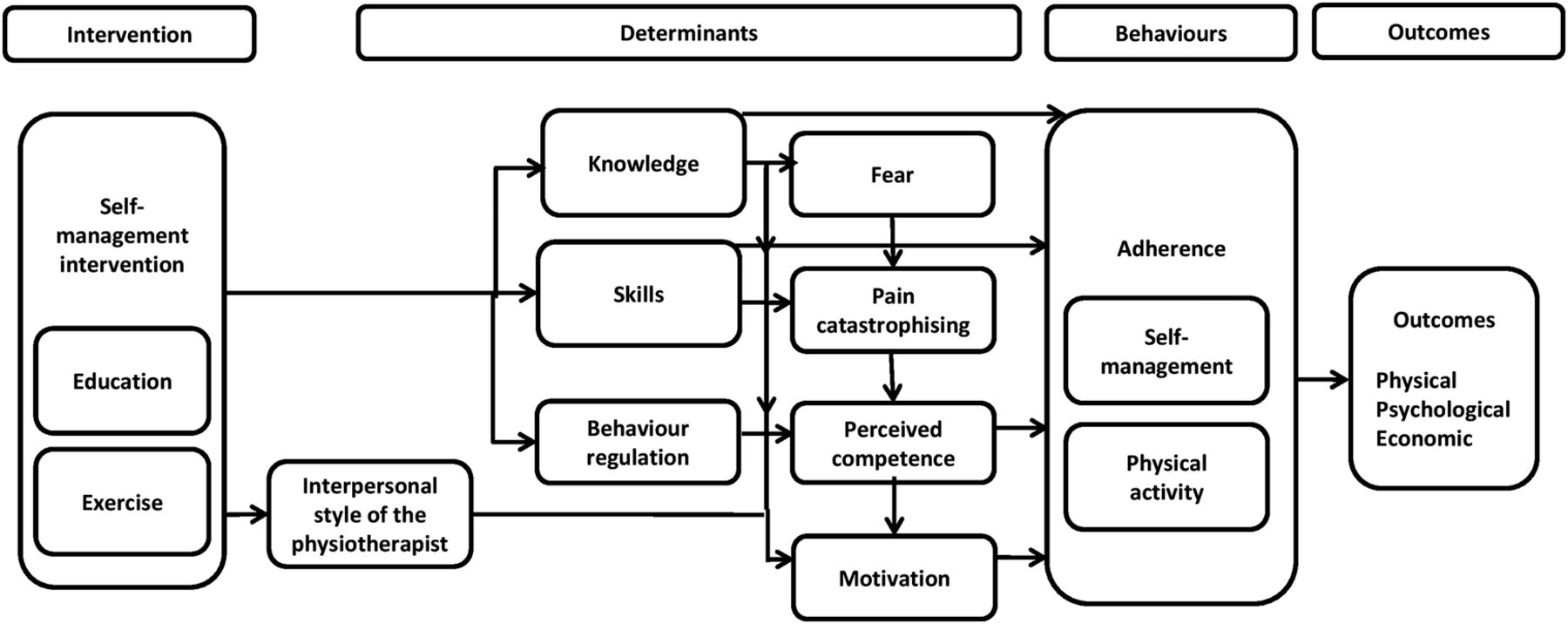 Theory-driven group-based complex intervention to support self