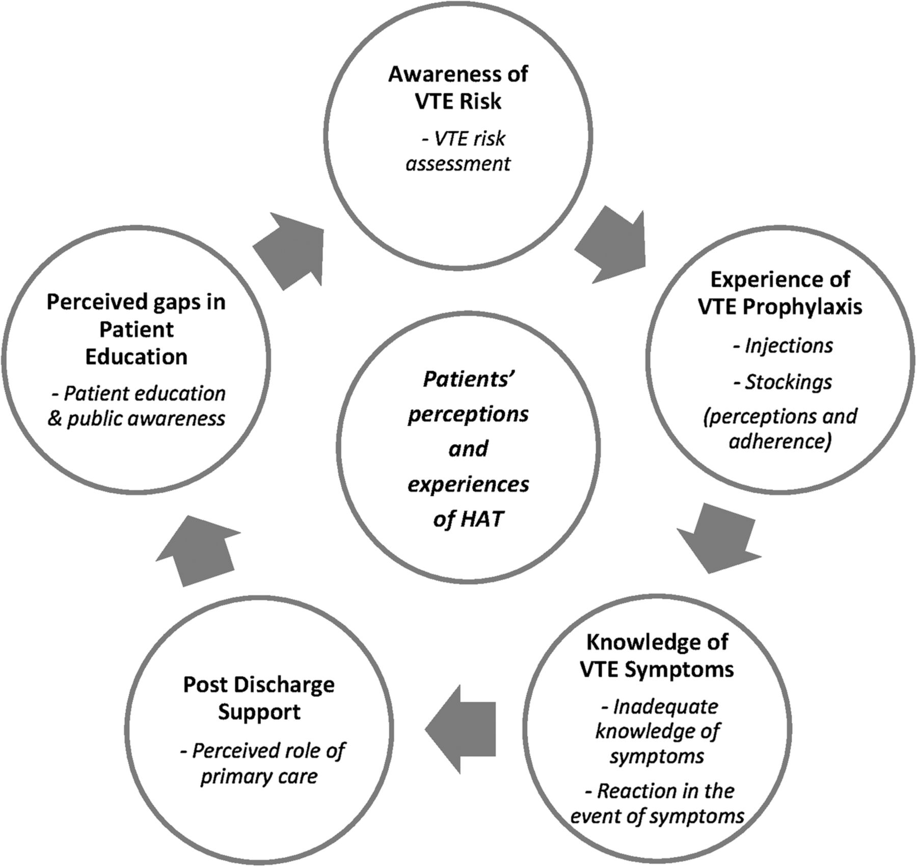 Patients' perceptions and experiences of the prevention of