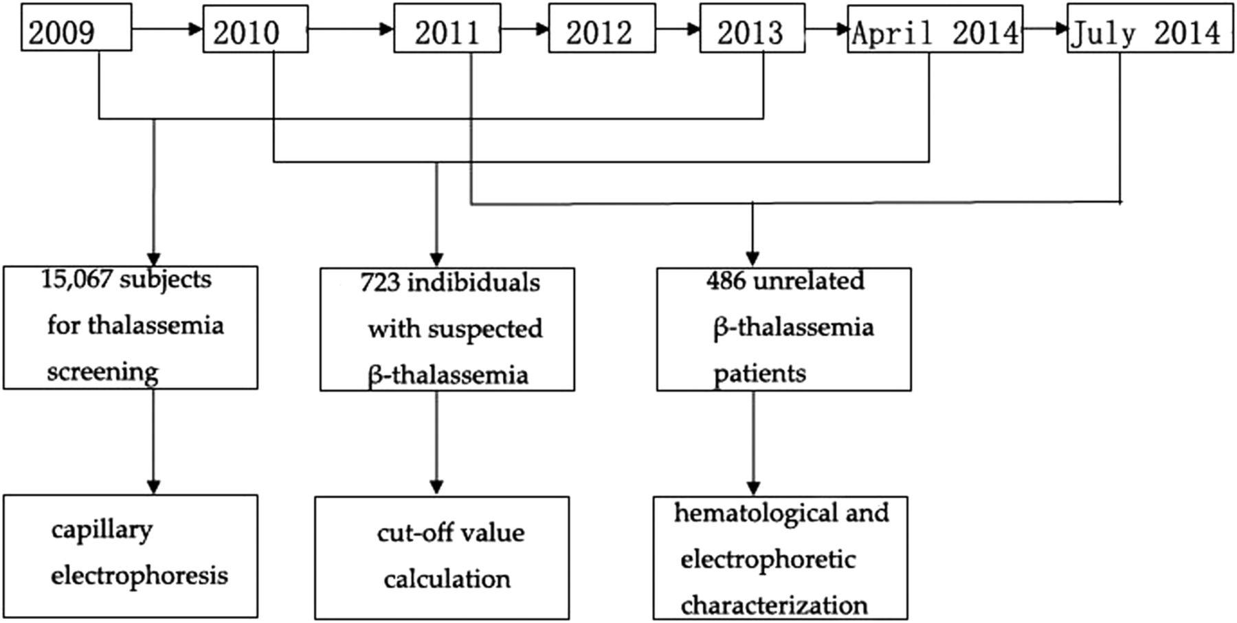 Haematological and electrophoretic characterisation of β