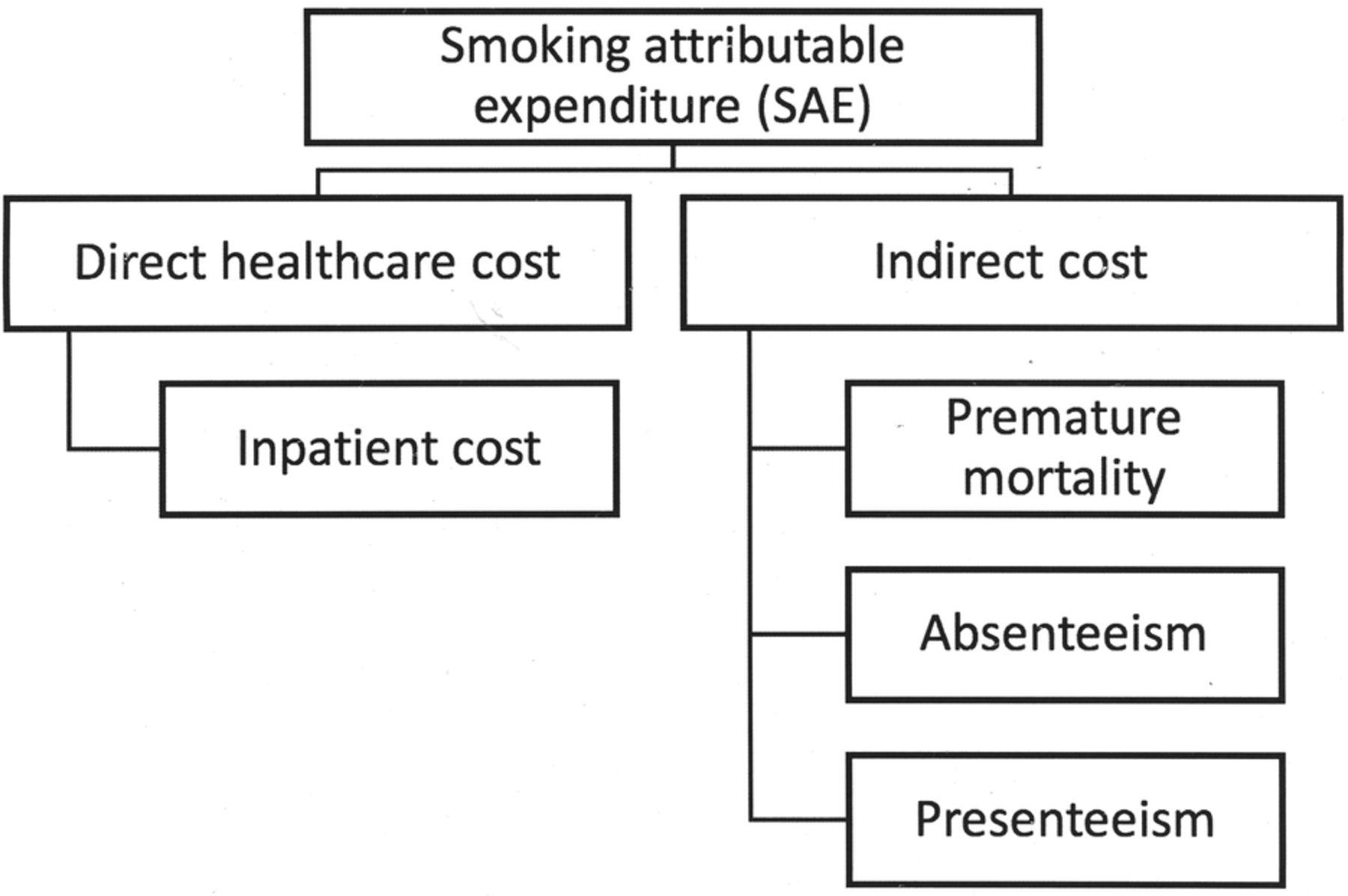 Prevalence-based, disease-specific estimate of the social