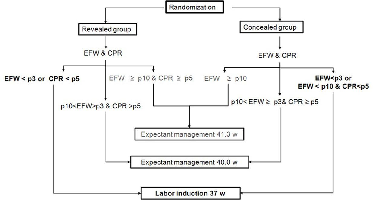 revealed versus concealed criteria for placental