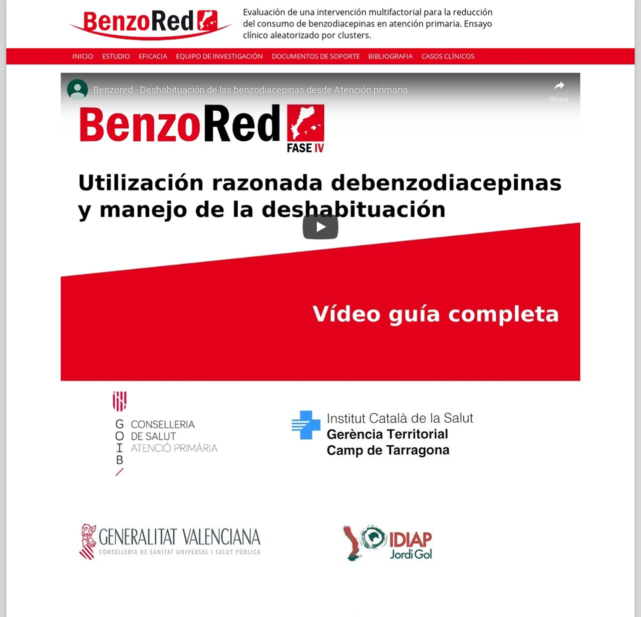 Intervention to reduce benzodiazepine prescriptions in