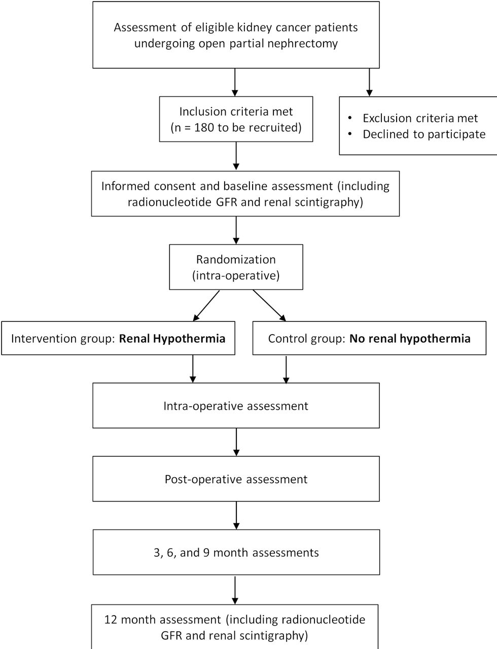 Renal hypothermia during partial nephrectomy for patients