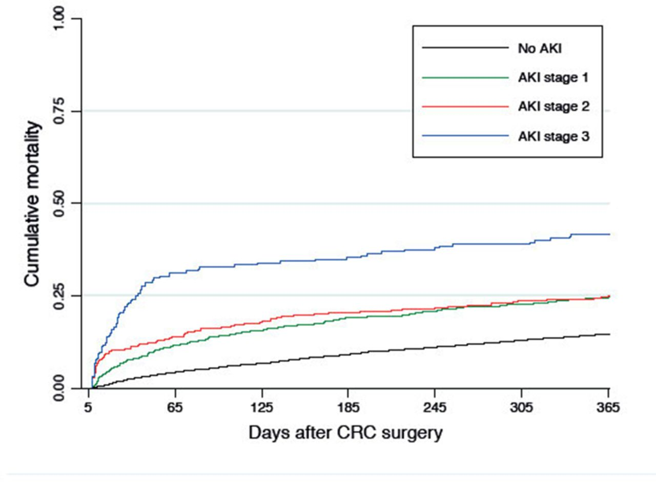 Acute Kidney Injury And 1 Year Mortality After Colorectal Cancer Surgery A Population Based Cohort Study Bmj Open